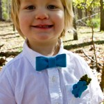 felt bowtie and boutonniere