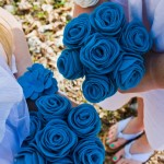 felt flower bouquets and wristlet